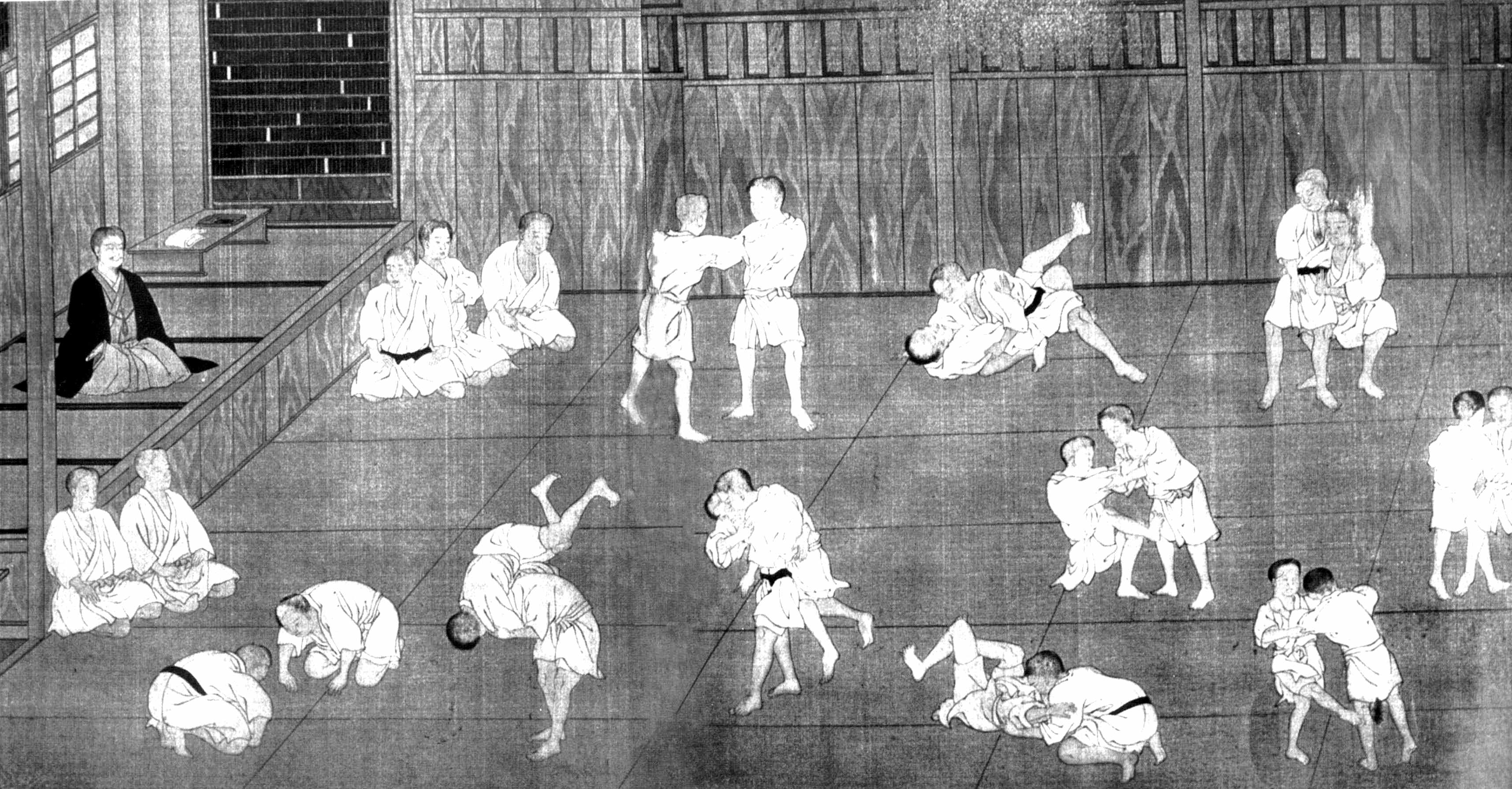 Historical Judo drawing